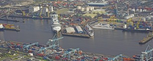 Aerial view of Dublin Port 1
